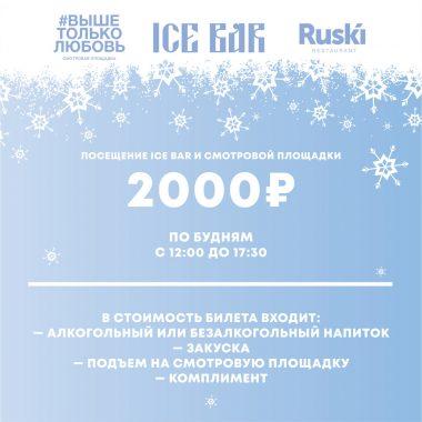 Билет на смотровую + Посещение ICE-BAR по будням, с 12:00 до 17:30